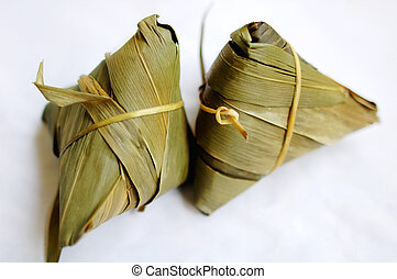 Glutinous rice dumplings - A pair of glutinous rice...