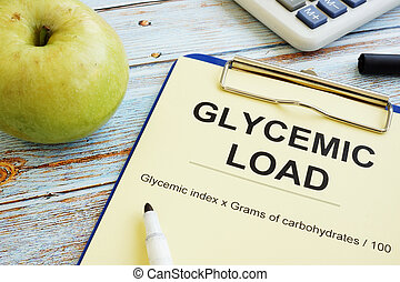 Glycemic load gl formula and an apple.