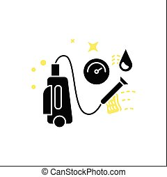 glyph, πίεση , πλύση , εικόνα