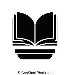 glyph, apartamento, pretas, educação, conceito, ícone, fundo, sinal., símbolo, vetorial, ilustração