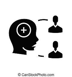 glyph, consenso, general, plano, concepto, negro, icono,...