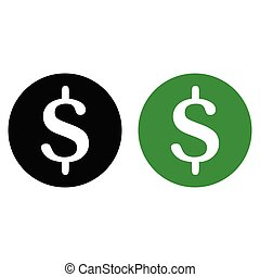 glyph, dollaro, icona