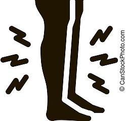 glyph, douleur, illustration, icône, vecteur, muscle