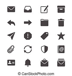 glyph, email, icônes