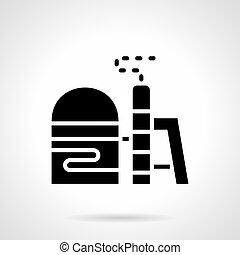 glyph, estilo, vector, icono, para, combustible, almacenamiento