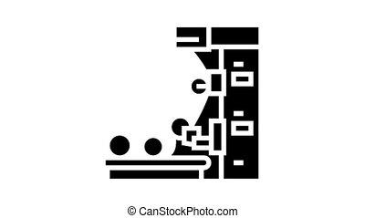 glyph, icône, animation, production, papier peint