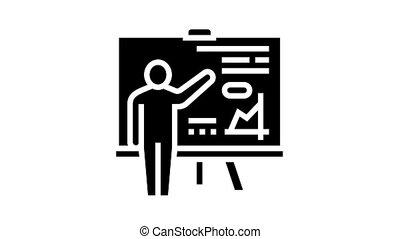 glyph, icône, pupille, animation, présentation