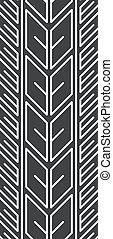 glyph, trail., pneu, icon., directionnel, pneu, silhouette, roue, illustration, vecteur, automobile, isolé, print., motocyclette, traces., space., symbole, été, rue, noir, véhicule, marques, blanc, piste, détaillé
