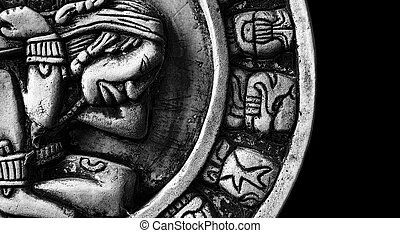 glyphs, 石, mayan, 刻まれた, カレンダー