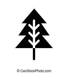 glyphs, arbre, noël, icône