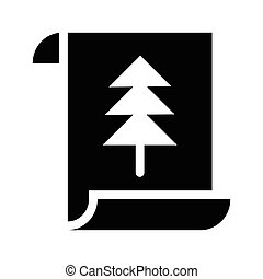 glyphs, noël carte, icône