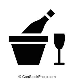 glyphs, vin, icône