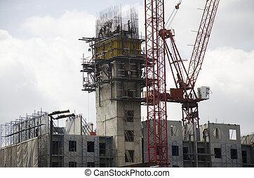 gmach, bangkok, handlowy, umiejscawiać, zbudowanie, tajlandia