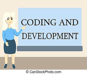 gmach, development., montaż, handlowy, programy, prosty, fotografia, pokaz, programowanie, pisanie, nuta, kodowanie, showcasing