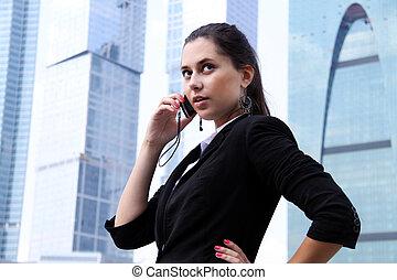 gmach, dzwonić kobiecie, nowoczesna sprawa