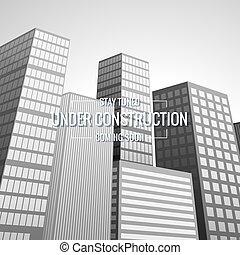 gmach, miasto, ilustracja