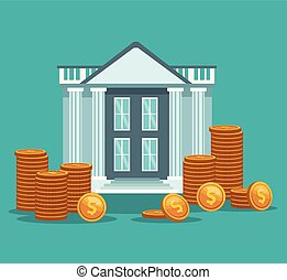 gmach, monety, bank