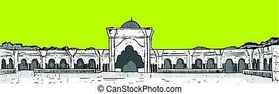 gmach, nabawi, święty, muslim meczet, ramadan, miesiąc,...