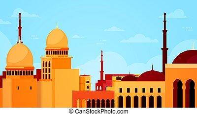 gmach, nabawi, muslim meczet, zakon, cityscape