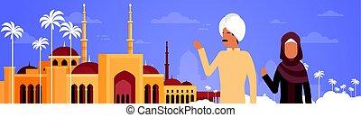 gmach, nabawi, para, muslim meczet, arab, cityscape, na