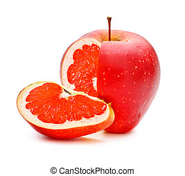 GMO Applegrape - red apple with grapefruit fillings,...