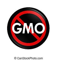 gmo, arrêt, nourriture, modifié, génétiquement, utilisation...