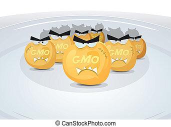 Gmo Corn Grains In My Plate