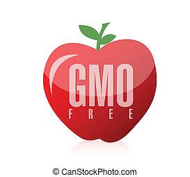 gmo free food illustration design