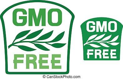 GMO free label (GMO free symbol)