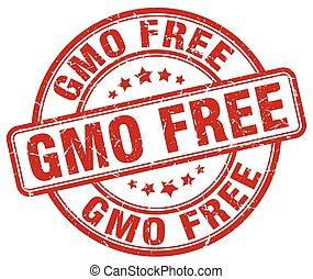 gmo free red grunge stamp