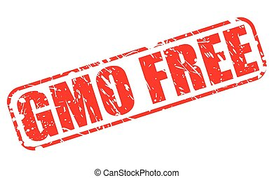 GMO free red stamp text