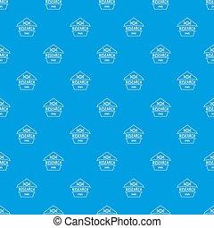 Gmo free research pattern seamless blue