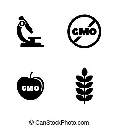 Gmo. Simple Related Vector Icons