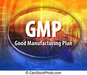 GMP acronym word speech bubble illustration - word speech ...