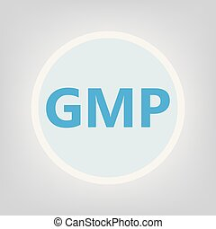 GMP (Good Manufacturing Practice) acronym- vector...