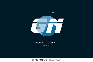 gn g n blue white circle big font alphabet company letter...
