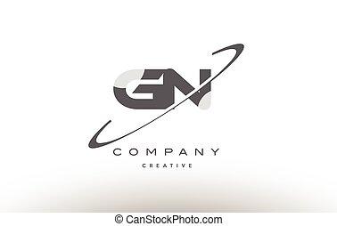 gn g n swoosh grey alphabet letter logo - gn g n grey swoosh...
