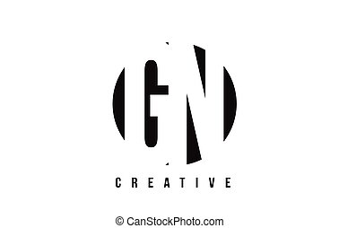 GN G N White Letter Logo Design with Circle Background. - GN...