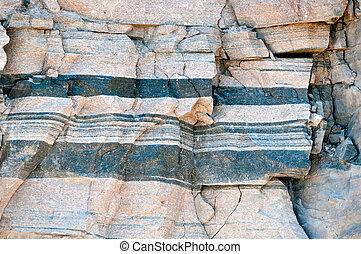 gneiss, gestein, muster, /, hintergrund