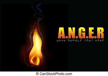 gniew, tło