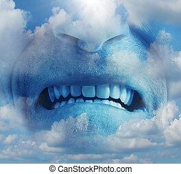 gniew, wzruszenie, wściekać się