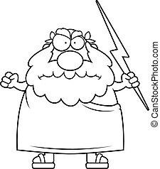 gniewny, grecki bóg