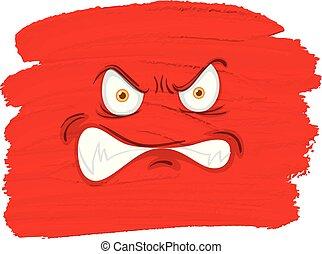 gniewny, potwór, czerwona twarz