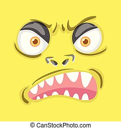gniewny, potwór, twarz