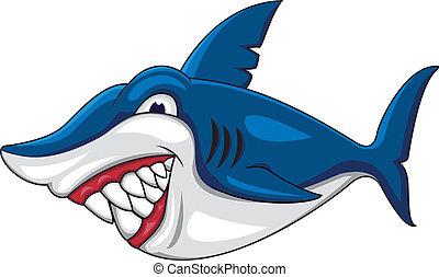 gniewny, rekin, rysunek