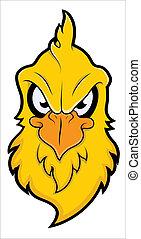 gniewny, wektor, ptak