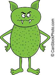 gniewny, zielony potwór