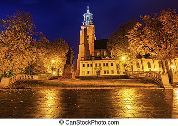 Gniezno Cathedral at sunset
