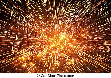 gnista, explosion