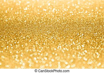 gnistra, glitter, guld, bakgrund